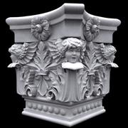 Columna capitel con cupido modelo 3d