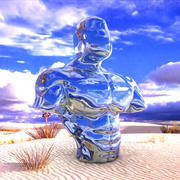 筋肉の胴体の彫刻 3d model