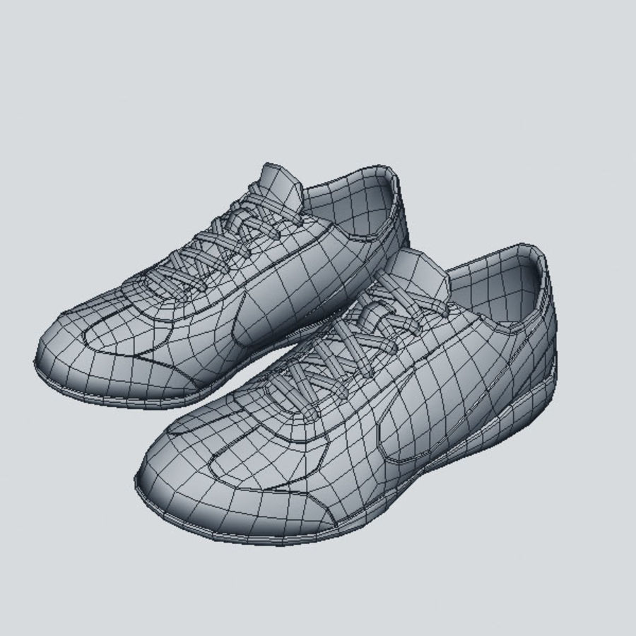 Running_shoes royalty-free 3d model - Preview no. 6