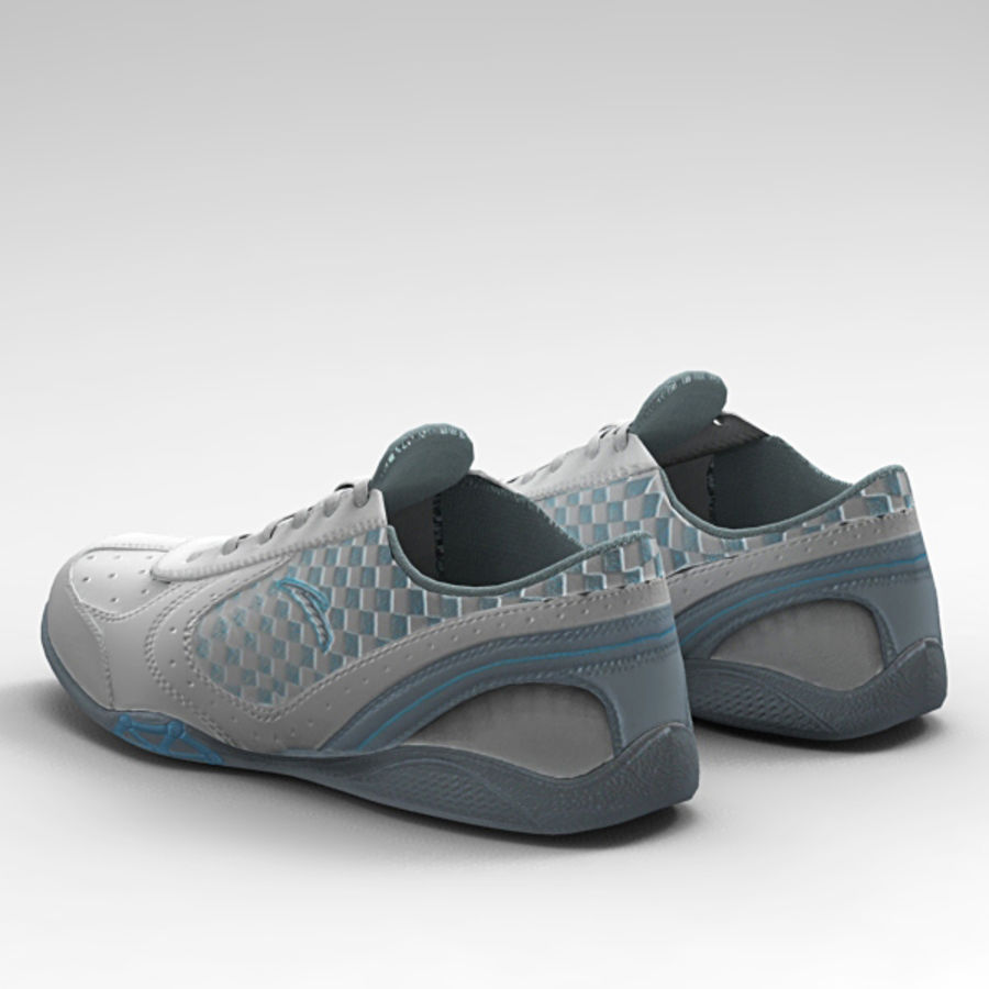Running_shoes royalty-free 3d model - Preview no. 3