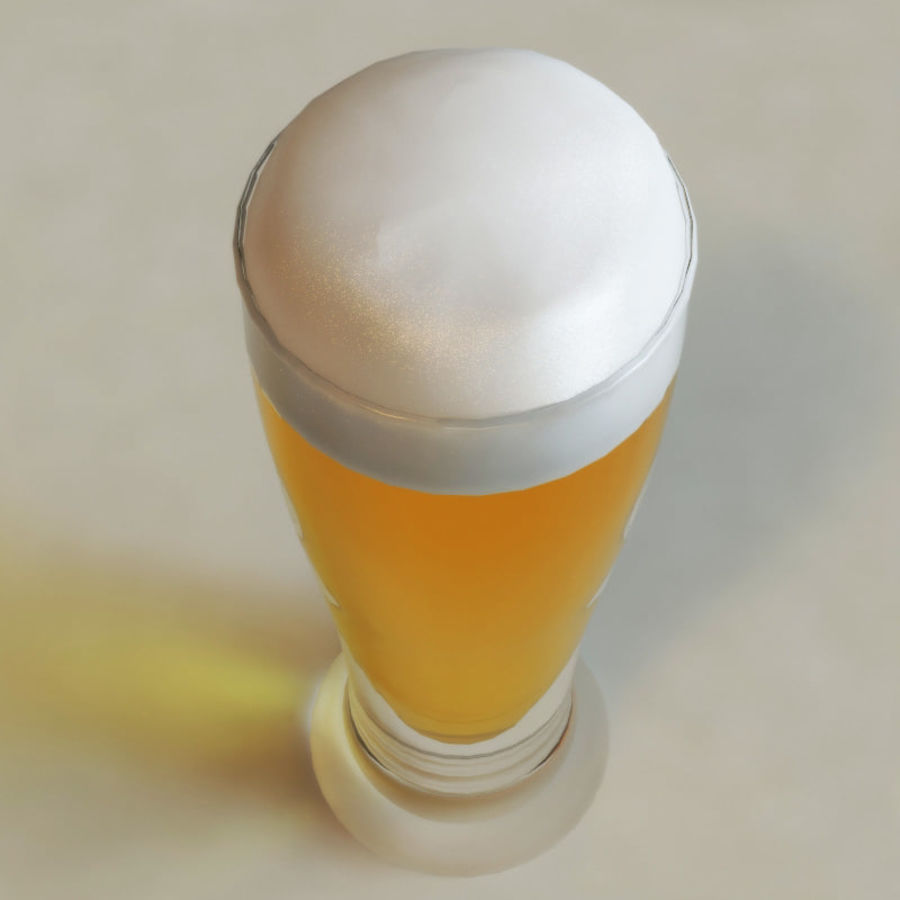 Beer glass V1 royalty-free 3d model - Preview no. 3