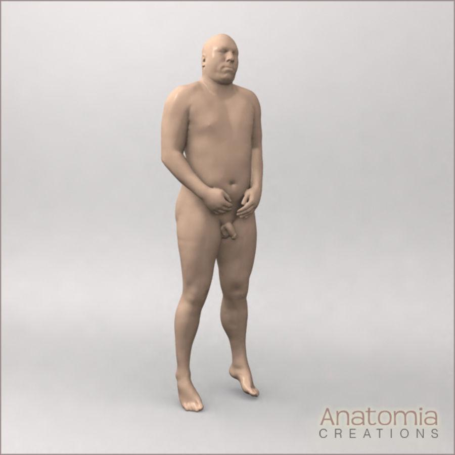 Pele masculina visível royalty-free 3d model - Preview no. 2