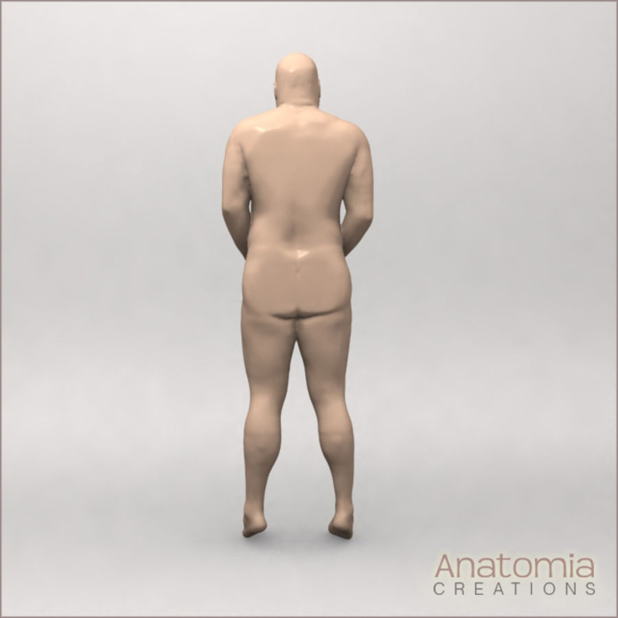 Pele masculina visível royalty-free 3d model - Preview no. 3