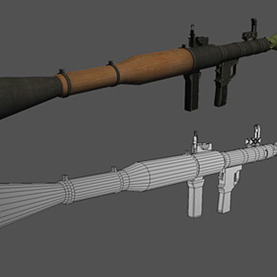 RPG-7 royalty-free 3d model - Preview no. 3