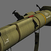 M136 AT4 anti tank weapon 3d model
