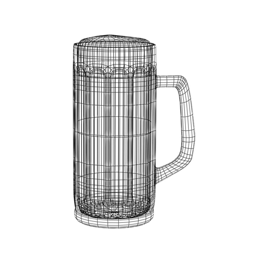 Beer glass V2 royalty-free 3d model - Preview no. 4