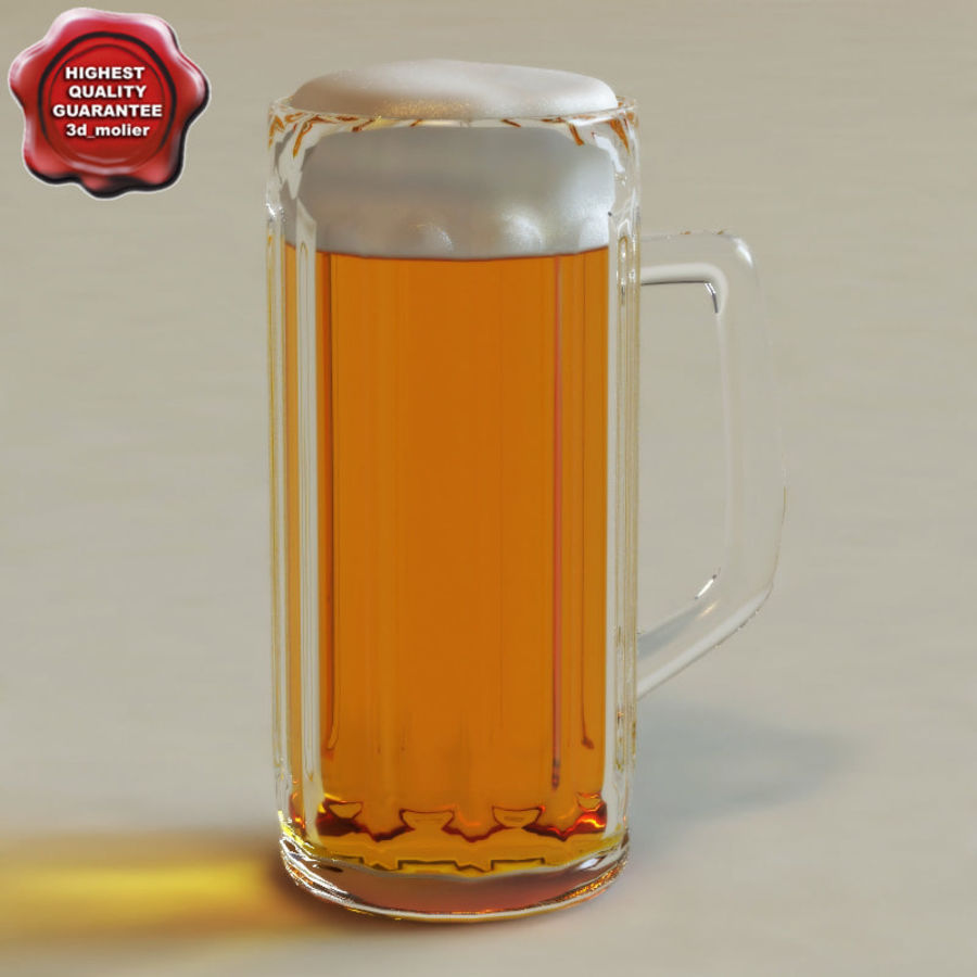 Beer glass V2 royalty-free 3d model - Preview no. 1