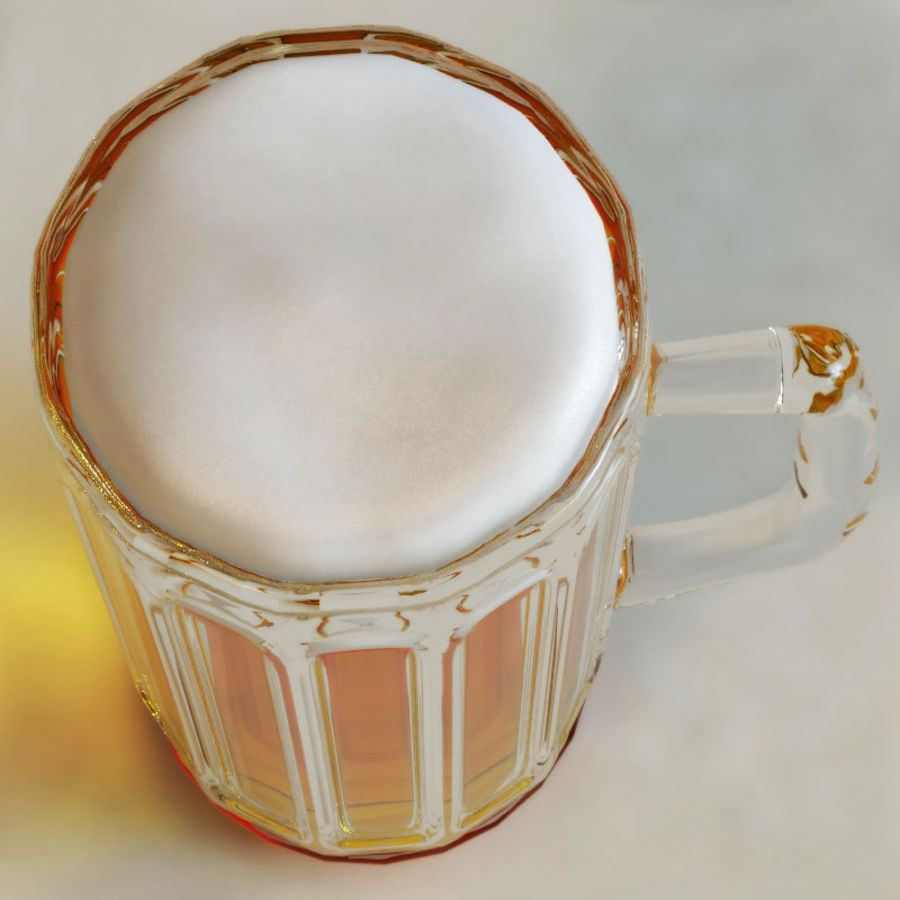 Beer glass V2 royalty-free 3d model - Preview no. 3