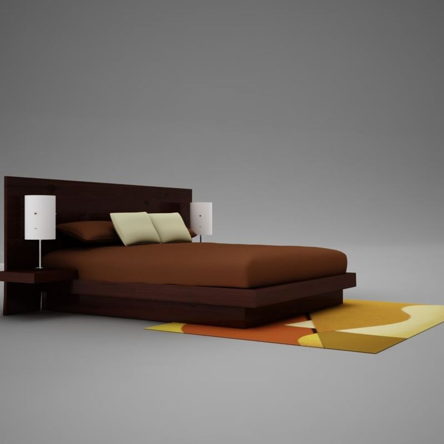 bed04.zip royalty-free 3d model - Preview no. 3