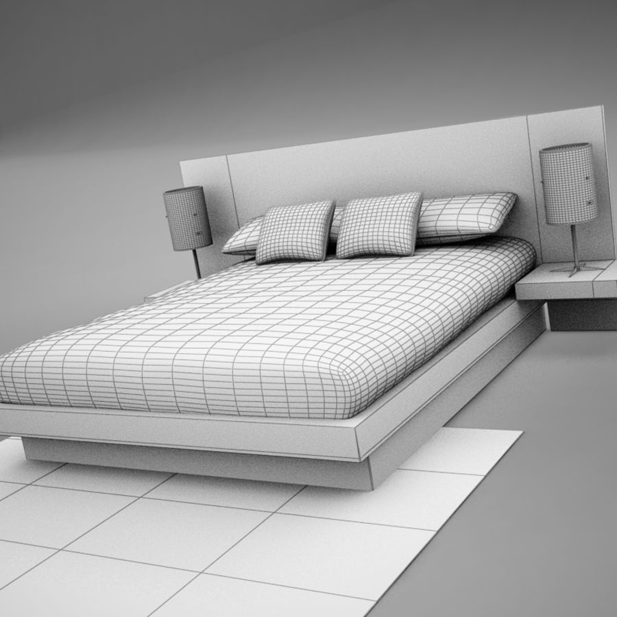 bed04.zip royalty-free 3d model - Preview no. 17