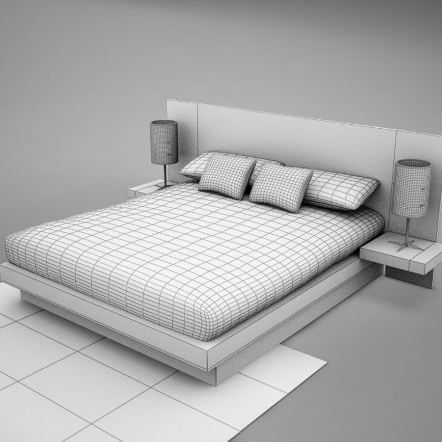 bed04.zip royalty-free 3d model - Preview no. 15