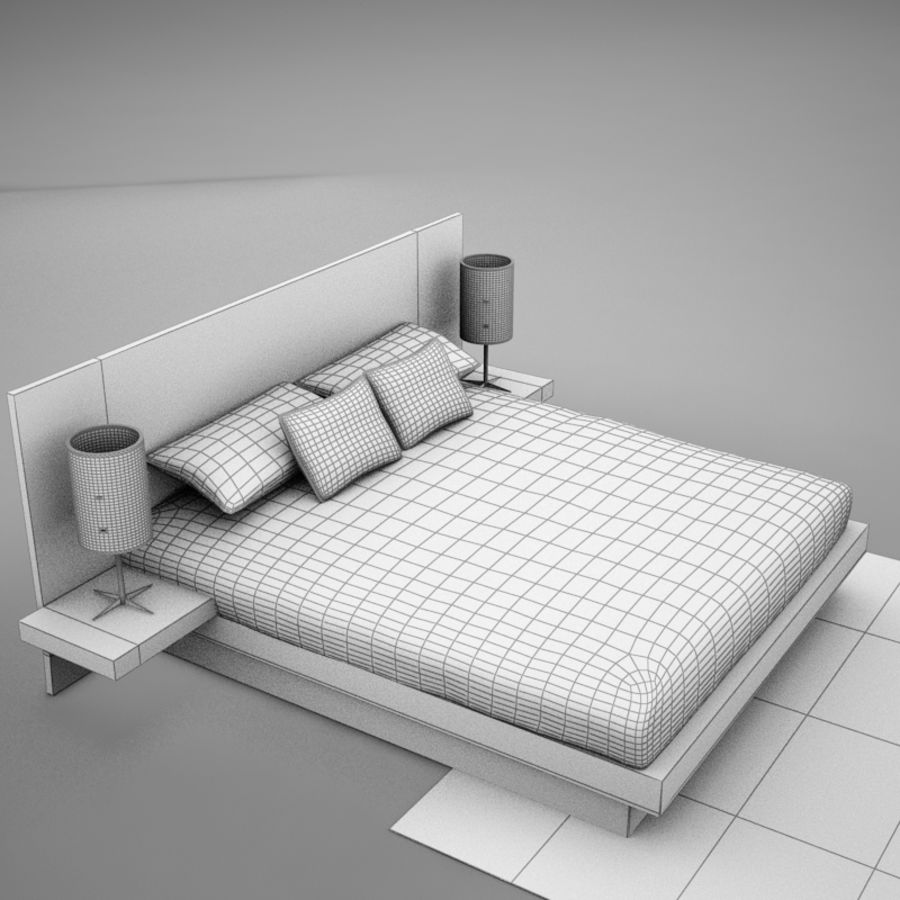 bed04.zip royalty-free 3d model - Preview no. 12
