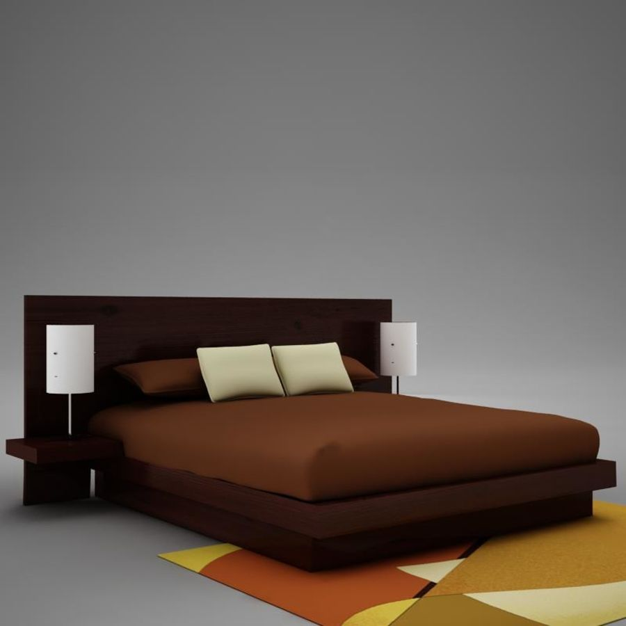 bed04.zip royalty-free 3d model - Preview no. 6