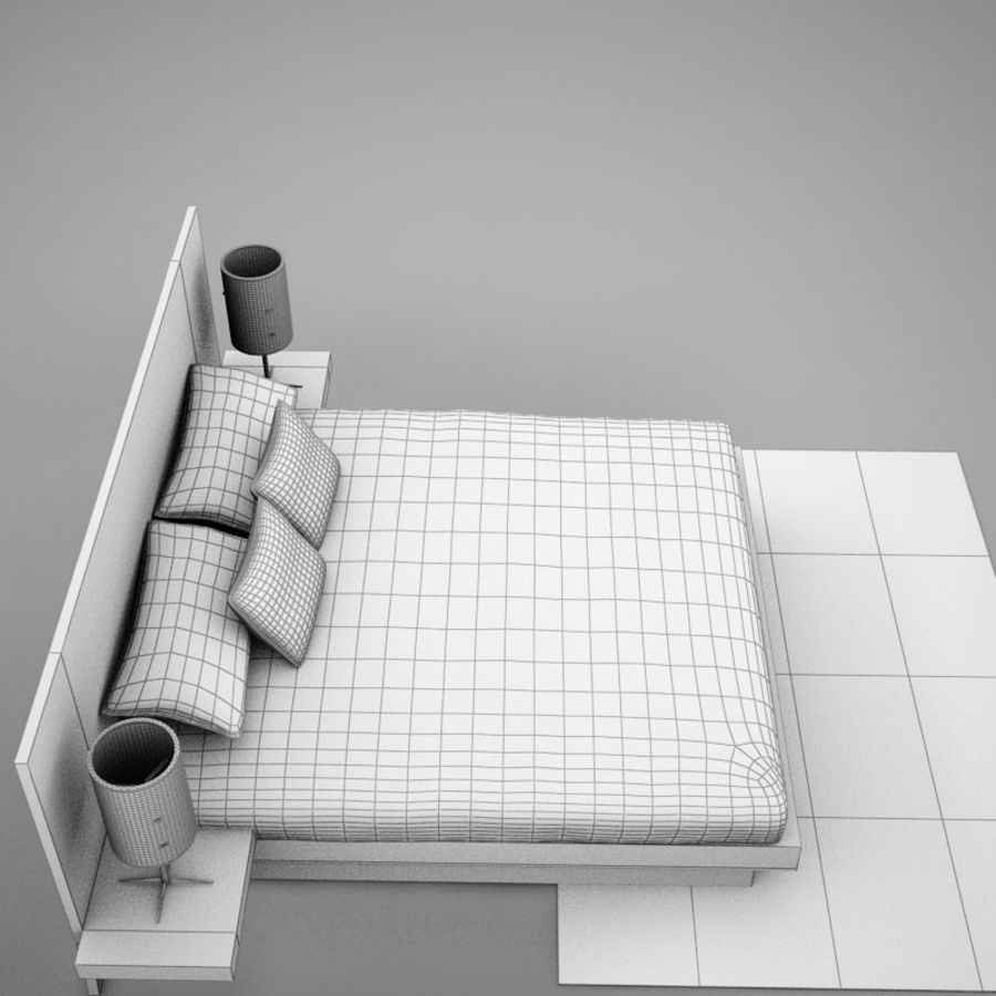 bed04.zip royalty-free 3d model - Preview no. 20