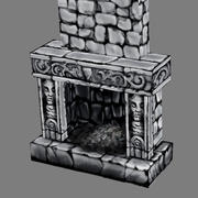 Lowpoly - Furniture - Fireplace - 1 3d model