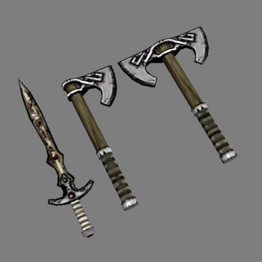 Lowpoly - Weapons - 2 royalty-free 3d model - Preview no. 1