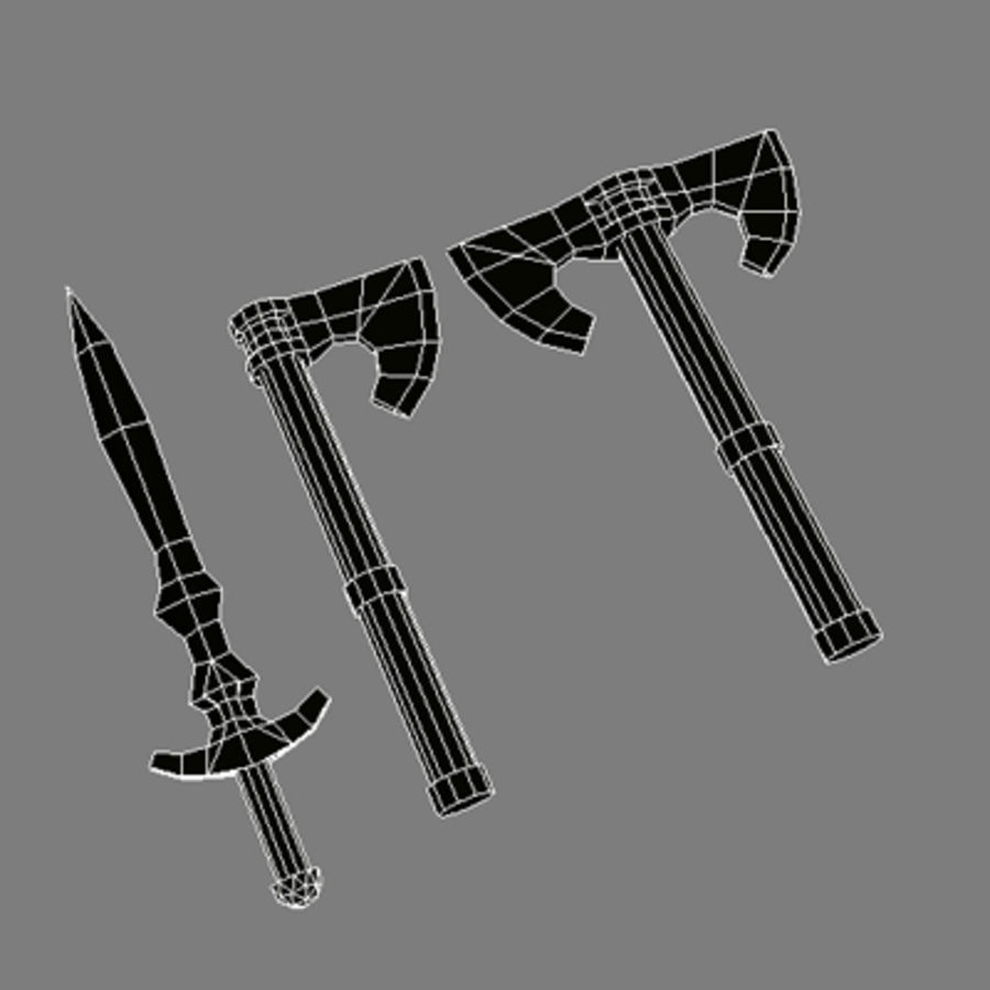 Lowpoly - Weapons - 2 royalty-free 3d model - Preview no. 2
