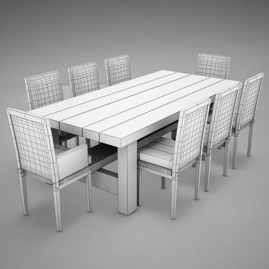 식사 테이블 royalty-free 3d model - Preview no. 11