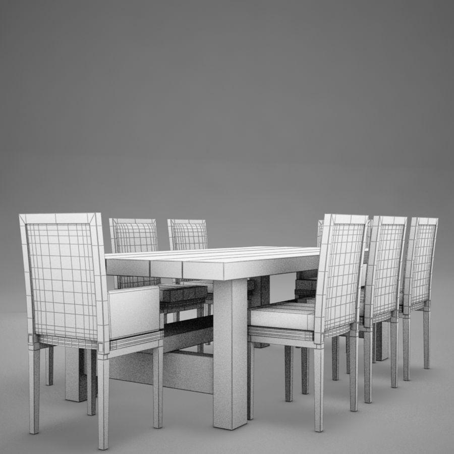 식사 테이블 royalty-free 3d model - Preview no. 8