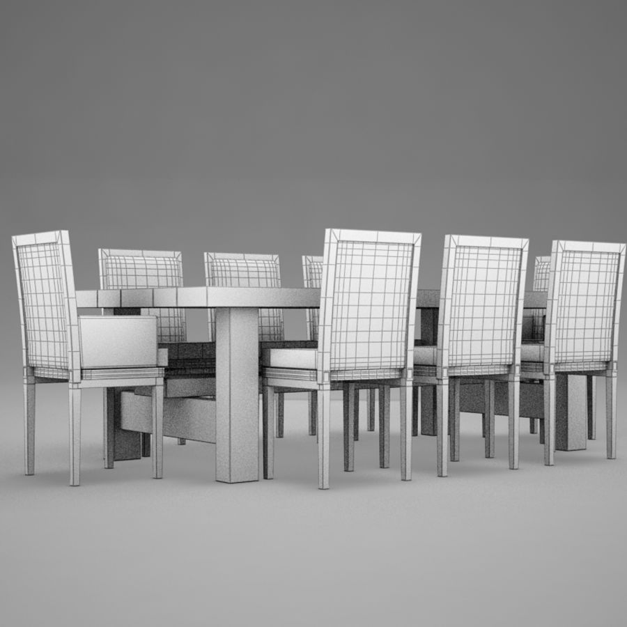 식사 테이블 royalty-free 3d model - Preview no. 10