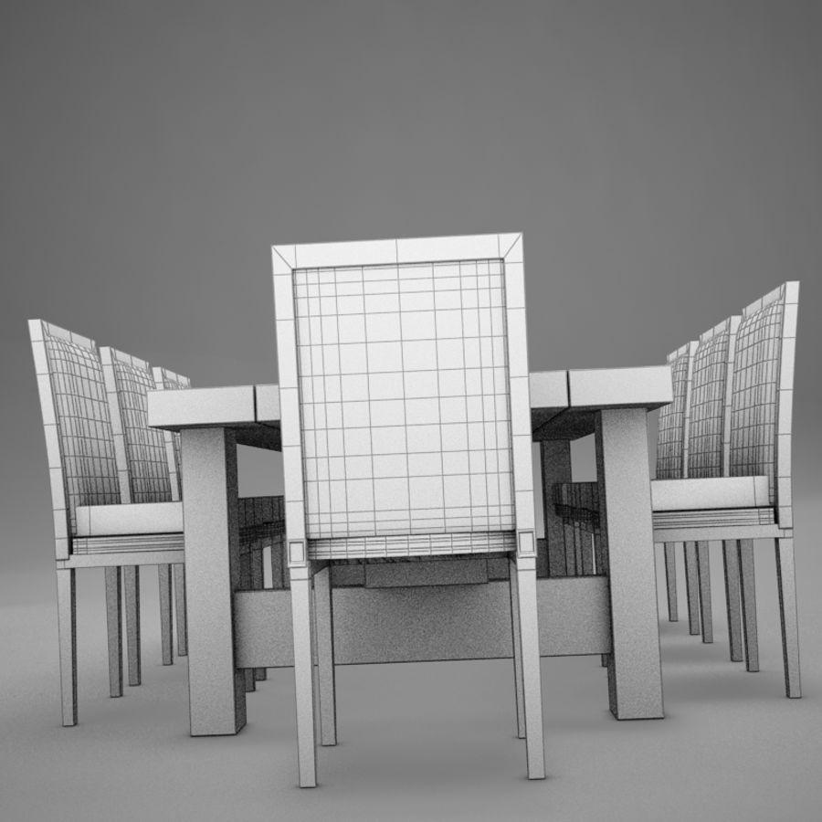 식사 테이블 royalty-free 3d model - Preview no. 13