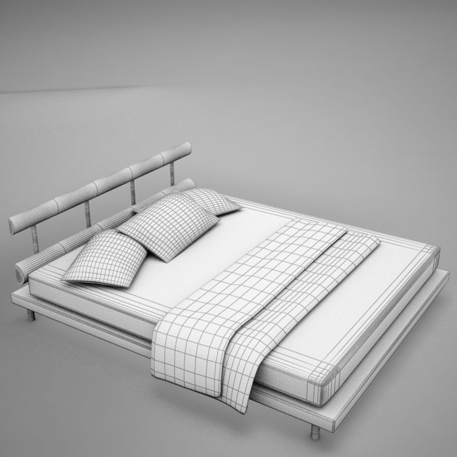 bed 03.zip royalty-free 3d model - Preview no. 12