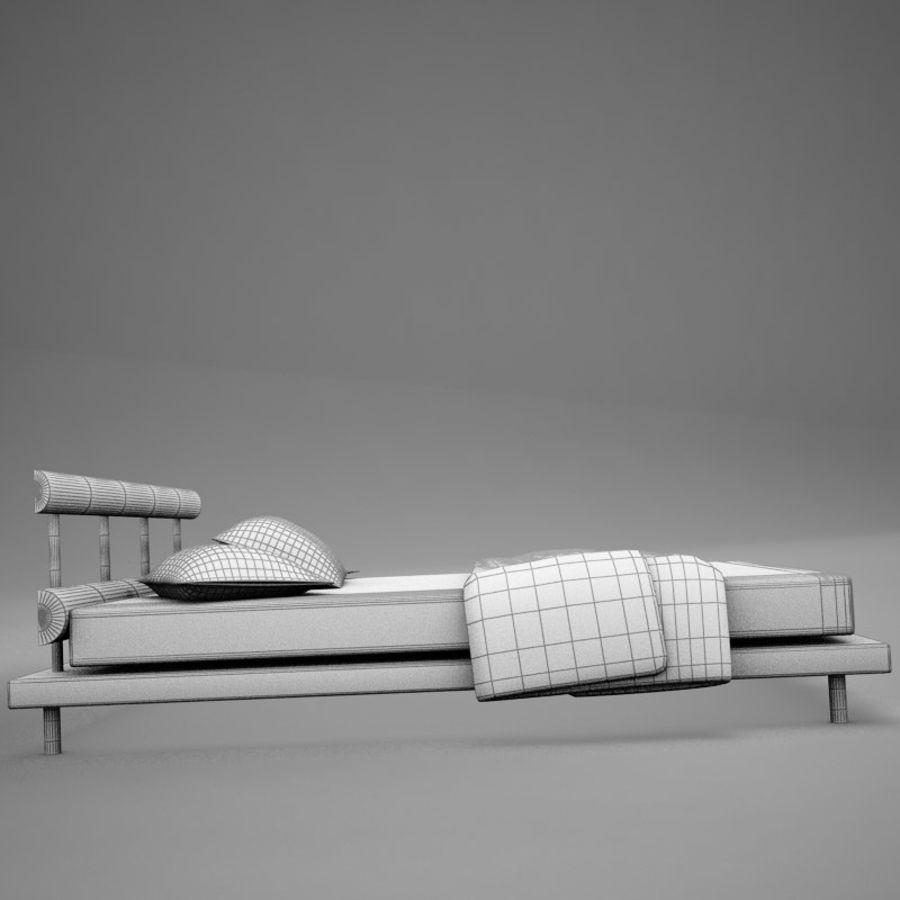 bed 03.zip royalty-free 3d model - Preview no. 16