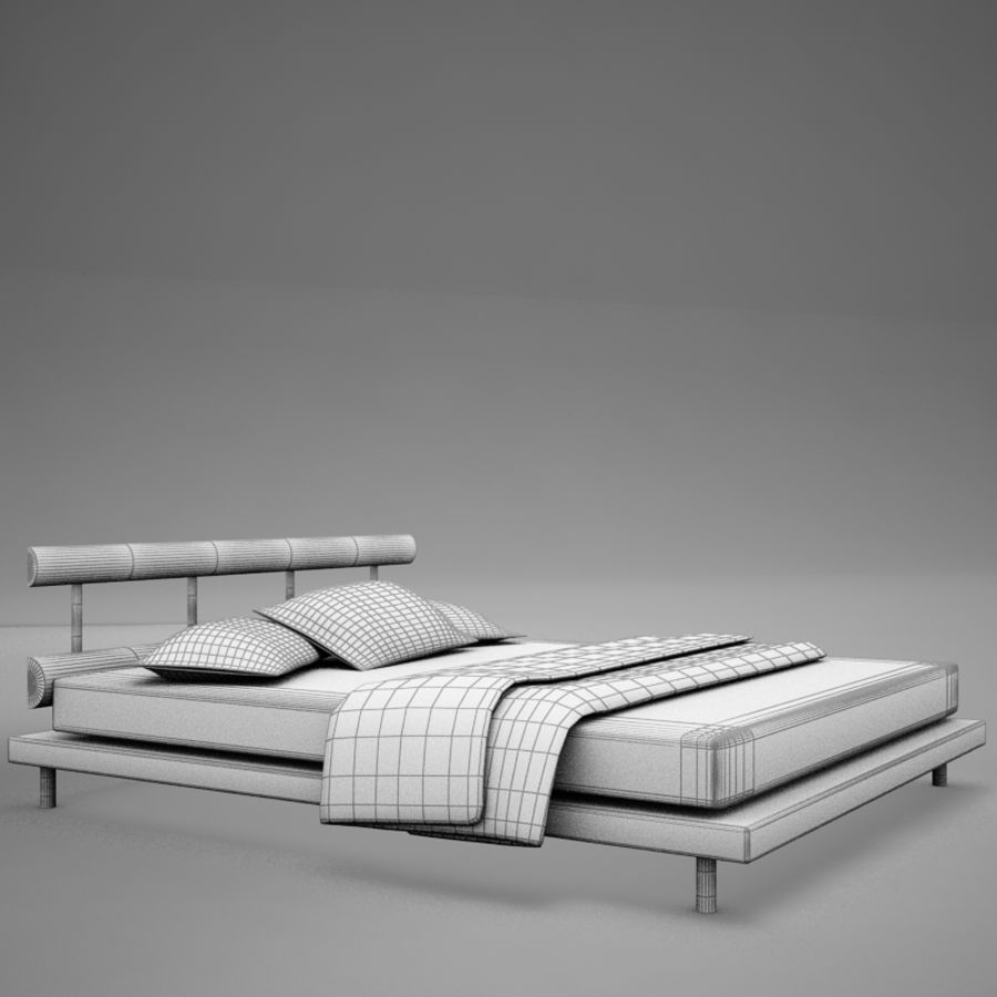 bed 03.zip royalty-free 3d model - Preview no. 11