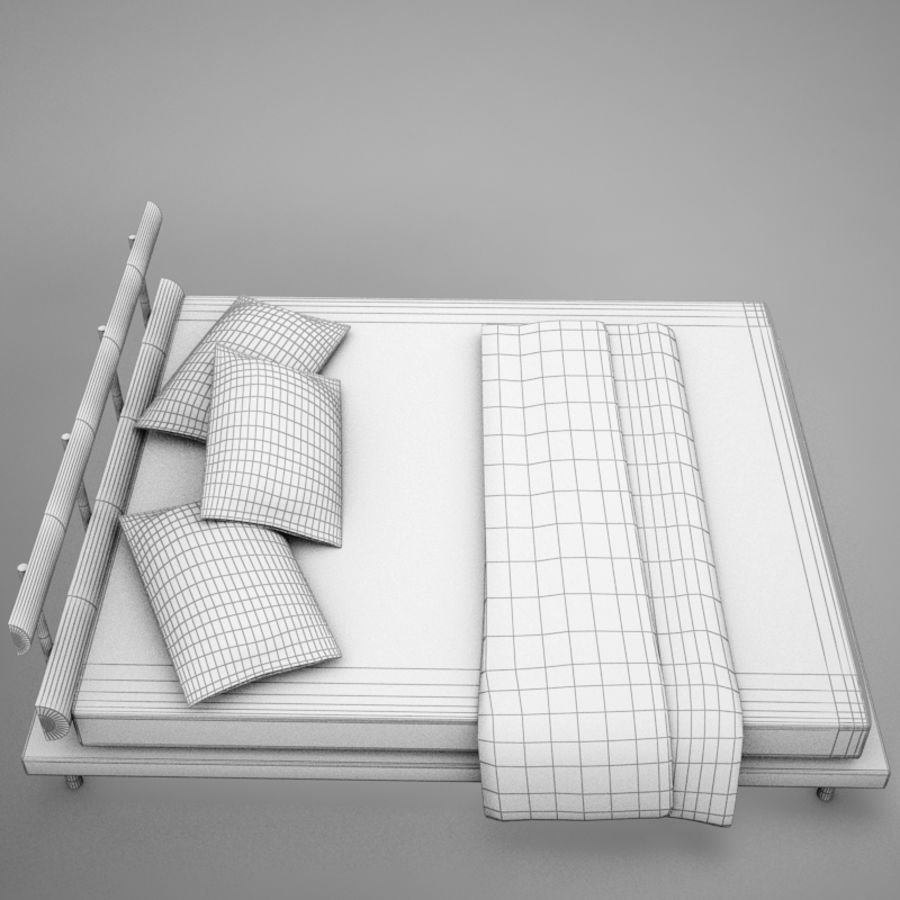 bed 03.zip royalty-free 3d model - Preview no. 20
