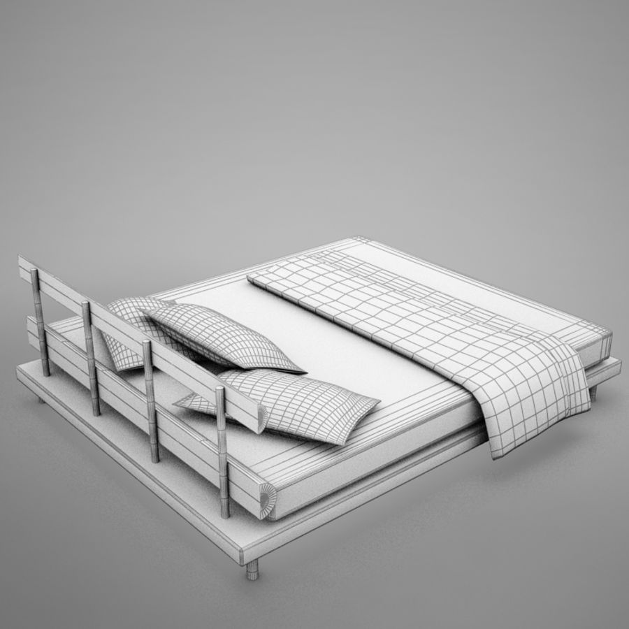 bed 03.zip royalty-free 3d model - Preview no. 18