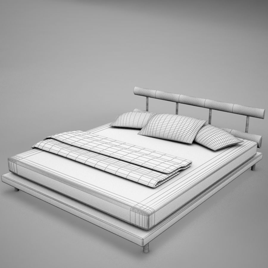 bed 03.zip royalty-free 3d model - Preview no. 15