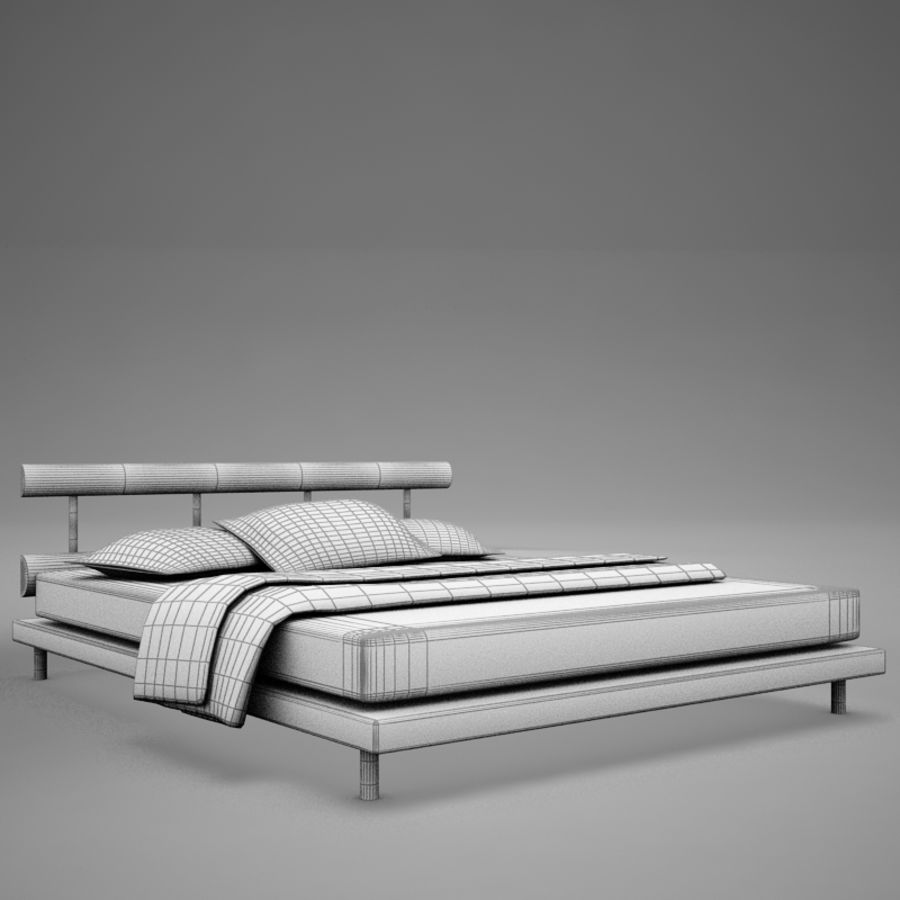 bed 03.zip royalty-free 3d model - Preview no. 13