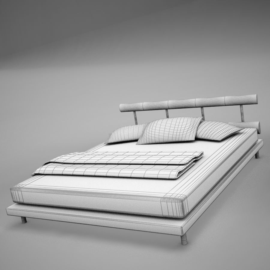 bed 03.zip royalty-free 3d model - Preview no. 17