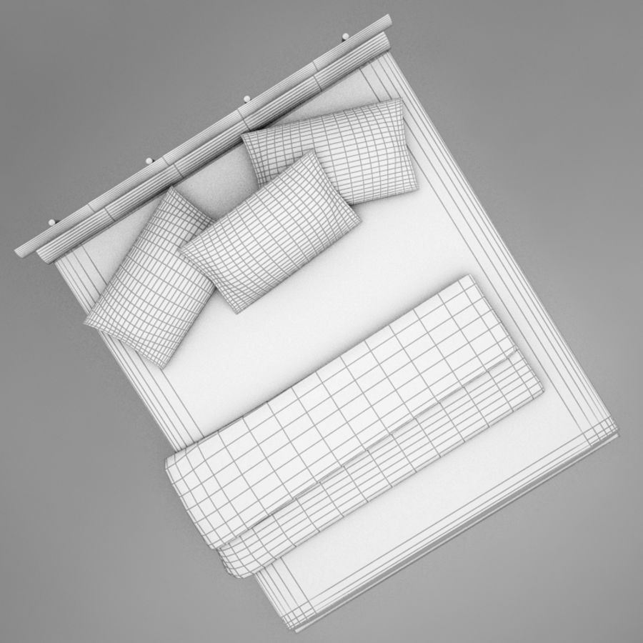 bed 03.zip royalty-free 3d model - Preview no. 14