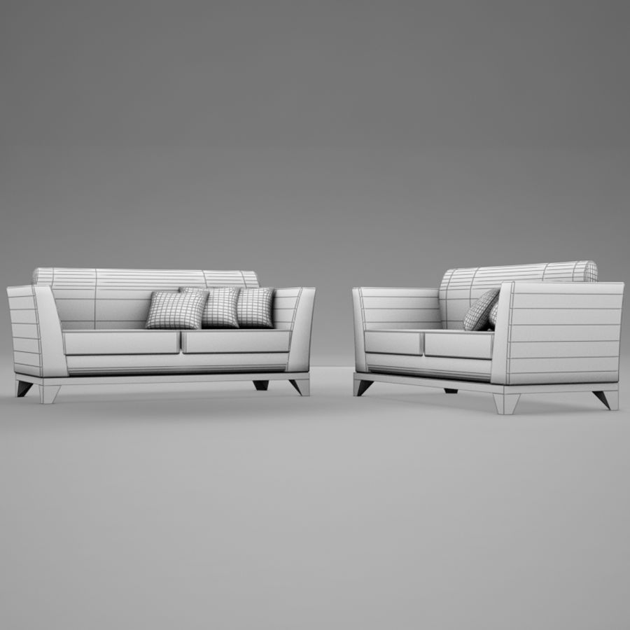 couches files.zip royalty-free 3d model - Preview no. 10