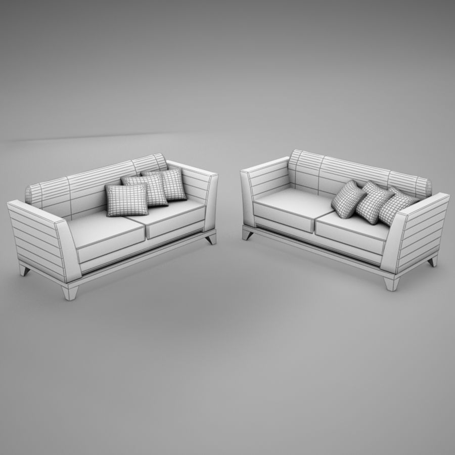 couches files.zip royalty-free 3d model - Preview no. 15