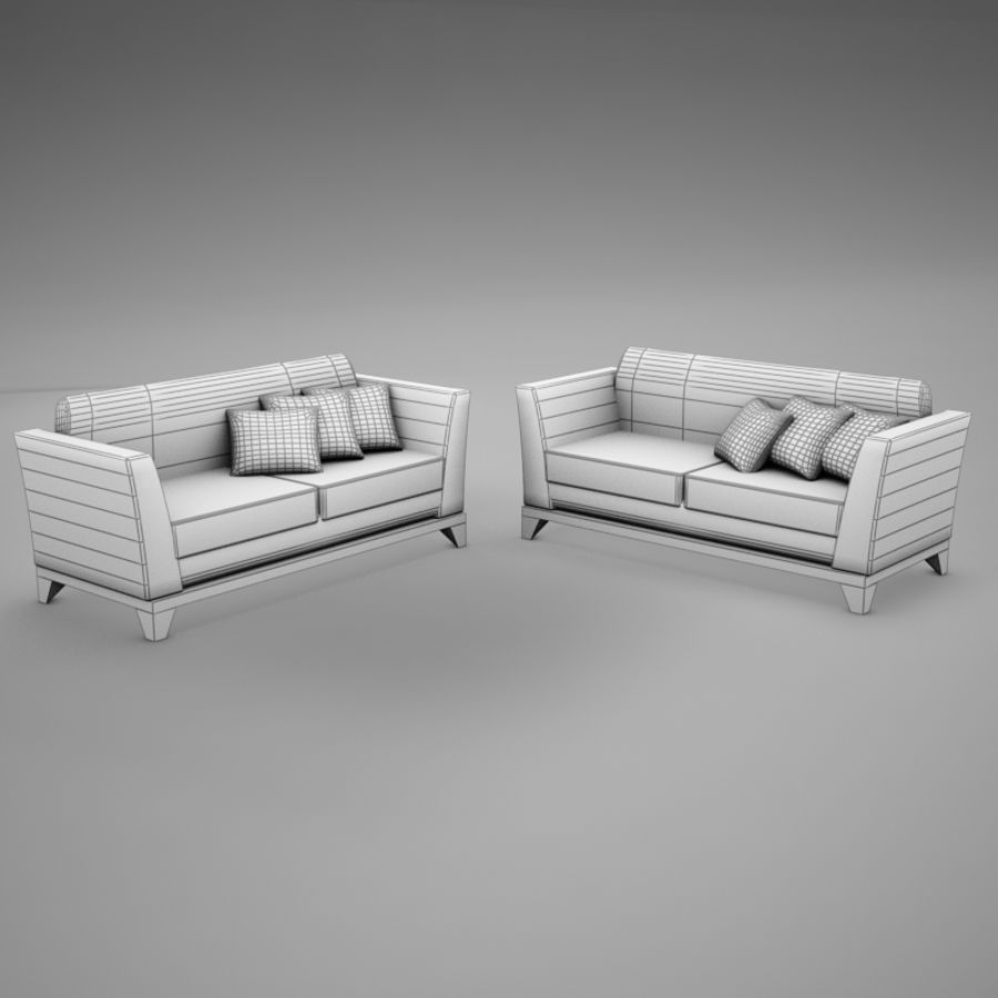 couches files.zip royalty-free 3d model - Preview no. 12