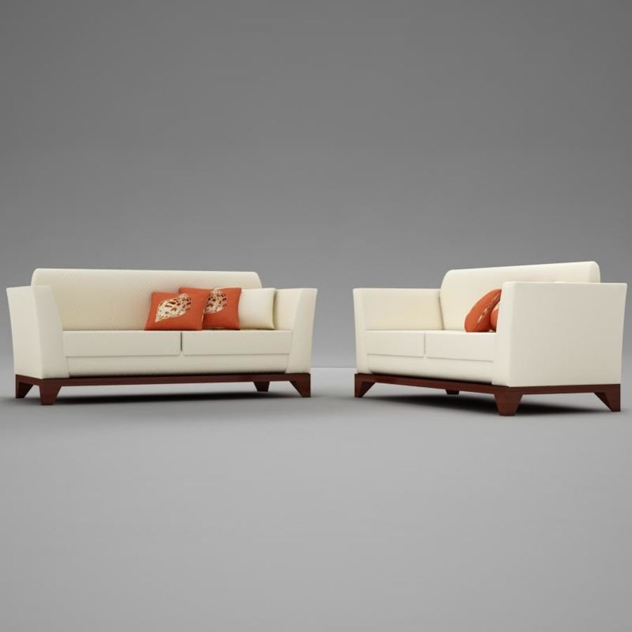 couches files.zip royalty-free 3d model - Preview no. 2