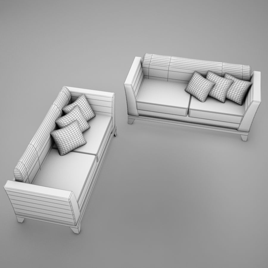 couches files.zip royalty-free 3d model - Preview no. 17