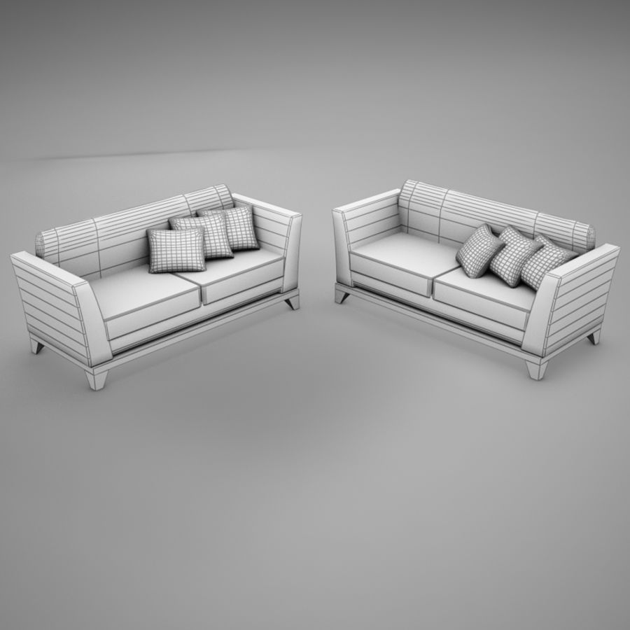 couches files.zip royalty-free 3d model - Preview no. 9
