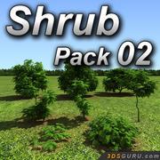 Shrub model pack 02 3d model