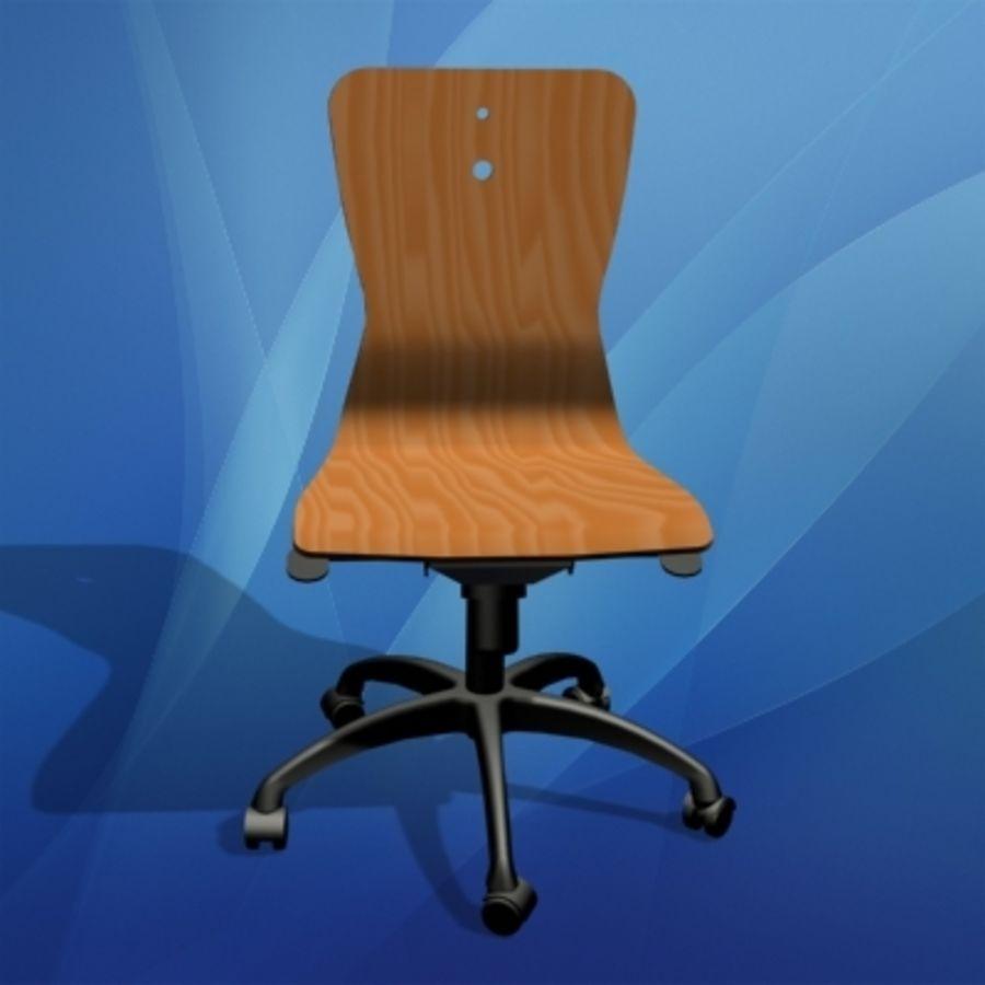 Sedie Da Scrivania In Legno.Sedia Da Ufficio In Legno Modello 3d 45 Wrl 3ds Lwo Max