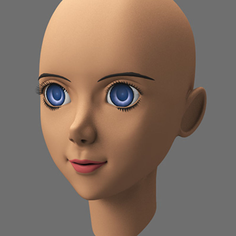 mbe03_head royalty-free 3d model - Preview no. 2