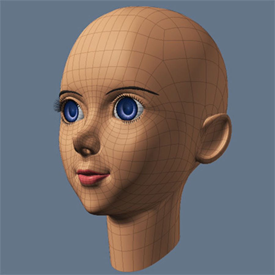 mbe03_head royalty-free 3d model - Preview no. 6