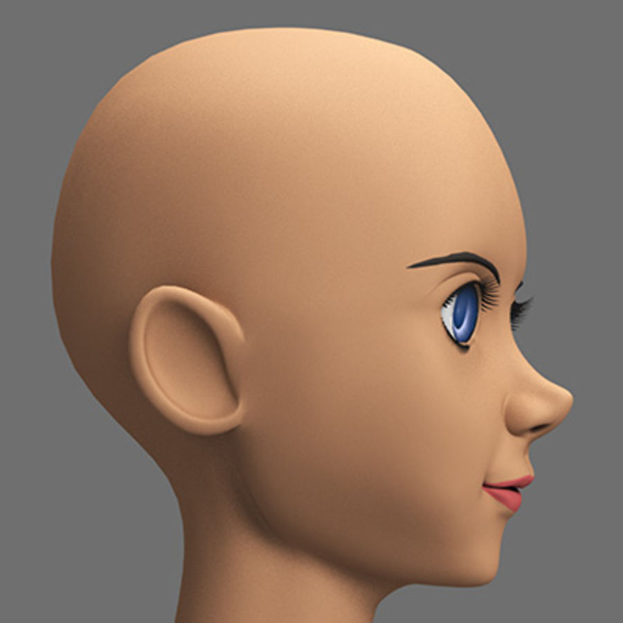 mbe03_head royalty-free 3d model - Preview no. 3
