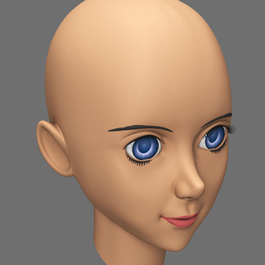 mbe03_head royalty-free 3d model - Preview no. 4