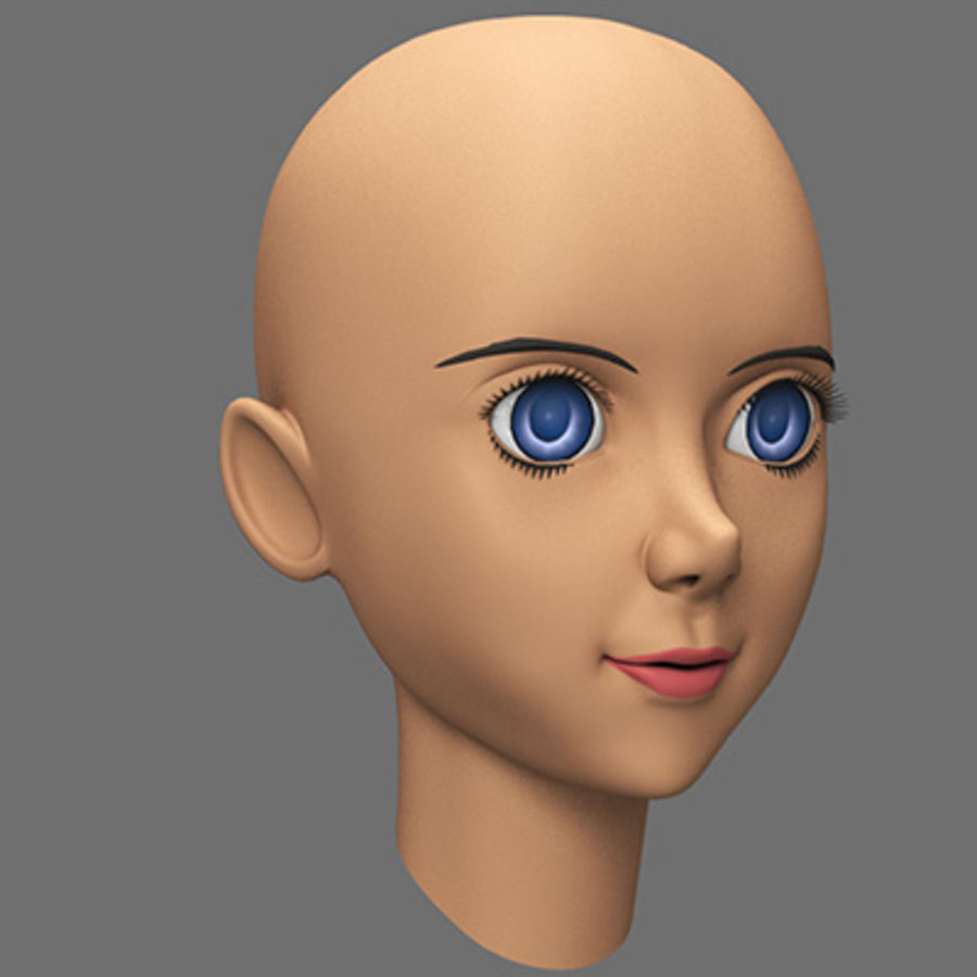 mbe03_head royalty-free 3d model - Preview no. 5