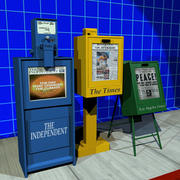 Newspaper Box Collection 01 3d model