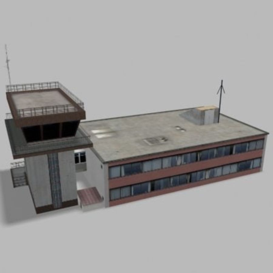 air_traffic_tower.zip royalty-free 3d model - Preview no. 5