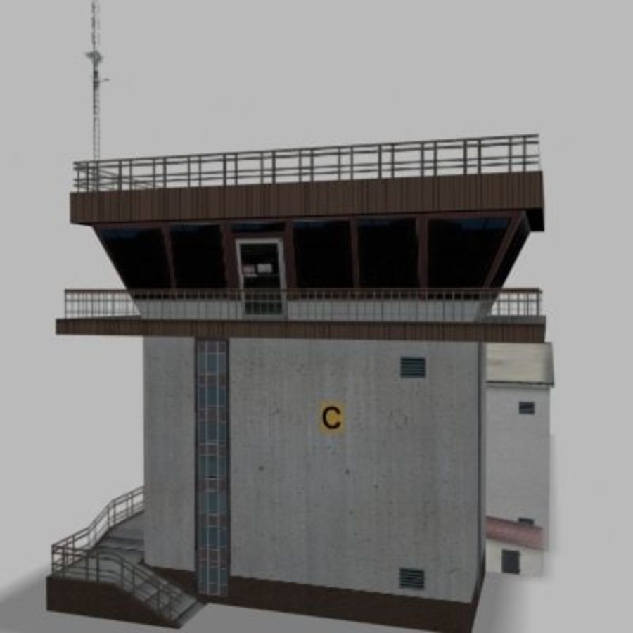 air_traffic_tower.zip royalty-free 3d model - Preview no. 6